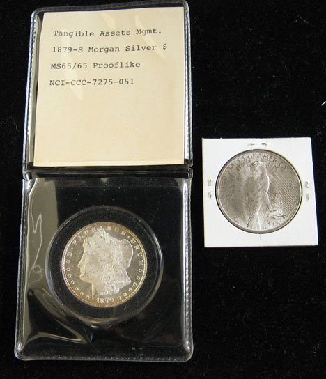 2012: 1879 S. Morgan Silver Dollar, 1928 Silver Dollar