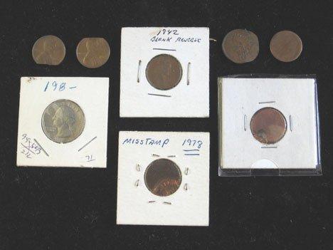 2015: Fifteen Piece Error Coins, ,