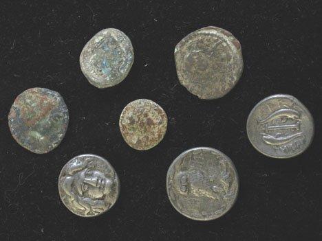 2016: Seven piece Ancient Coins, ,
