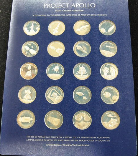 2020: Apollo Franklin Mint Set , 10 o/z Sterling, ,