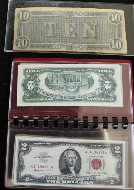 2021: Ten piece Two Dollar (C-U) Notes and Two Confeder