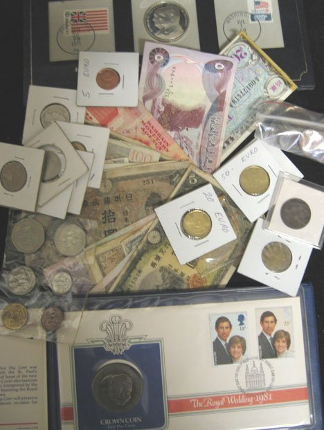 2022: Group of Assorted foreign Currency, Military Issu
