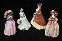 2211: Four Royal Doulton Figurines, , Including the fig