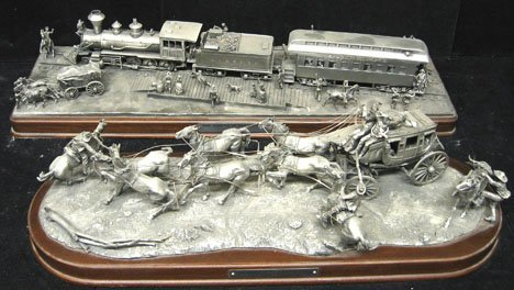 """2387: Franklin Mint The Holdup of the Overland Stage"""" a"""