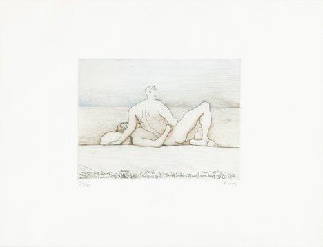 3008: HENRY MOORE, (BRITISH 1898-1986), RECLINING FIGUR