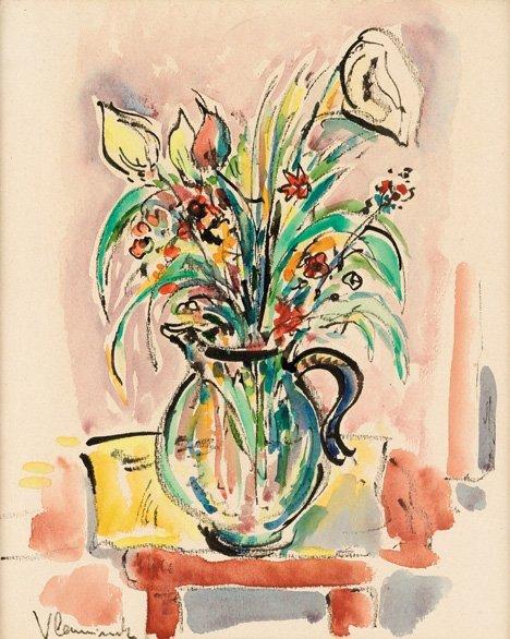 "3012: MAURICE DE VLAMINCK, (FRENCH 1876-1958), FLOWERS"""