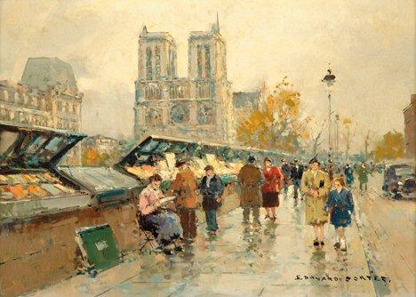 3014: EDOUARD LEON CORTES, (FRENCH 1882-1969), NOTRE DA
