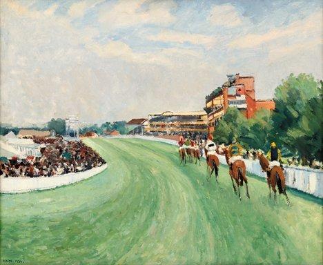 "3015: PAUL MAZE, (FRENCH 1887-1979), ASCOT RACES 1936"""""