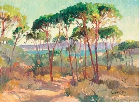 3016: CONSTANTINE KLUGE, (FRENCH B. 1912), A WOODED LAN