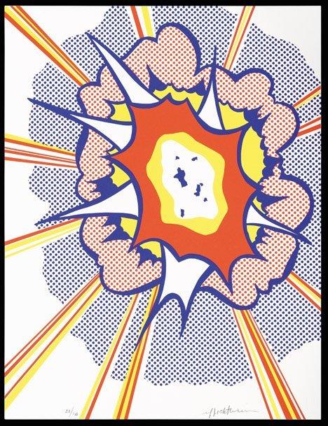 3145: ROY LICHTENSTEIN, (AMERICAN 1923-1997), EXPLOSION
