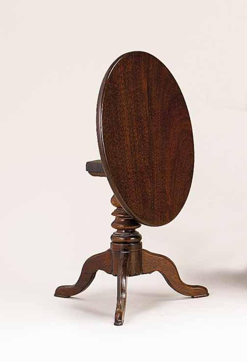14: Miniature mahogany tea table, 19th century, The cir