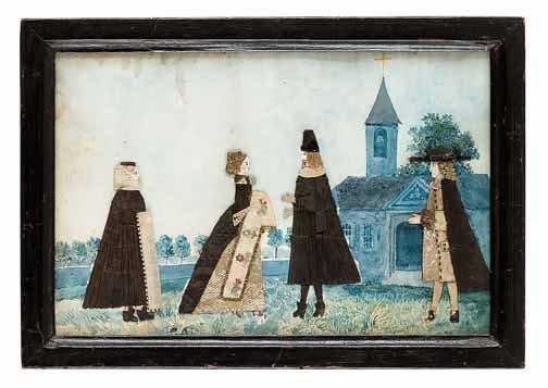 16: English School 19th century, strolling ladies and g