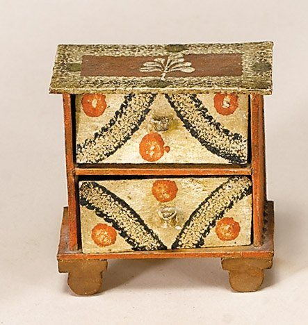 20: Painted and decorated miniature chest of drawers, 1