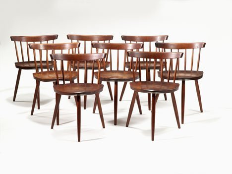 "1014: Set of eight George Nakashima Mira"" chairs., Amer"