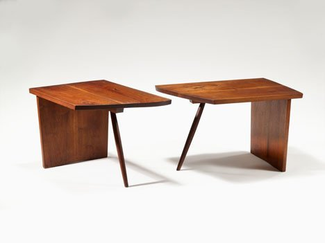 1020: Pair of end tables by George Nakashima, American