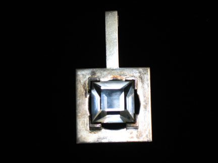 2001: Large silver pendant, , Unusual large silver pend