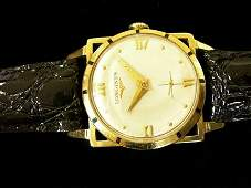 2175 Gentlemans 14 karat yellow gold Longines wristwa