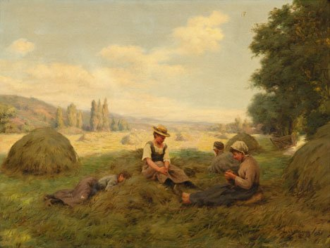 7: ERNEST CHATEIGNON, (FRENCH CA. 1865), A REST FROM TH
