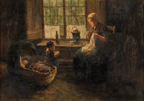 12: BERNARD DE HOOG, (DUTCH 1867-1943), A QUIET MOMENT
