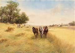 100: FRANK F. ENGLISH, (AMERICAN 1854-1922), HARVEST TI