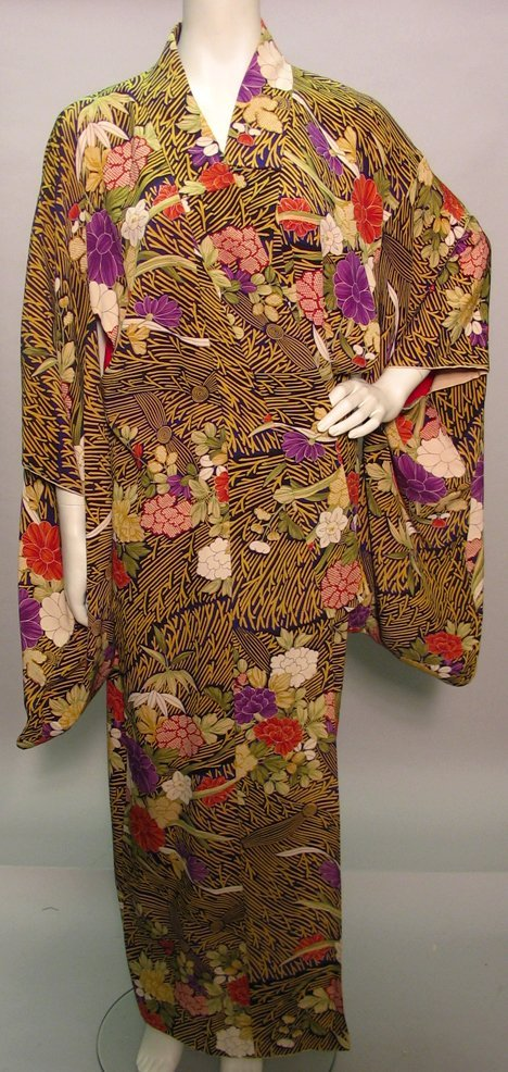 1002: Two Kimonos, Japan, 20th century, One traditional