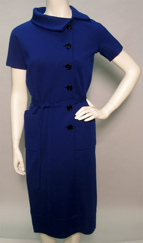 1011: Two Norman Norell day dresses, 1960s, One in blac