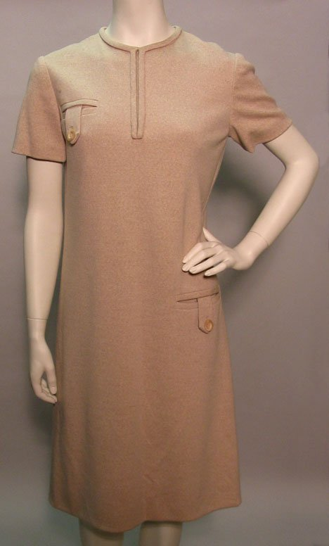 1014: Three wool day dresses, 1960s, Two by Bill Blass,