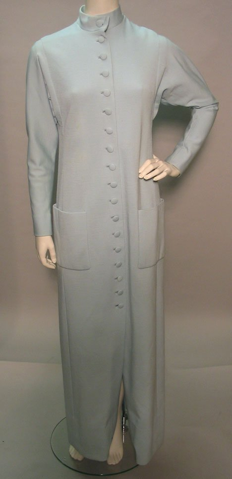 1017: Two Norman Norell shirtwaist maxi dresses, 1970s,