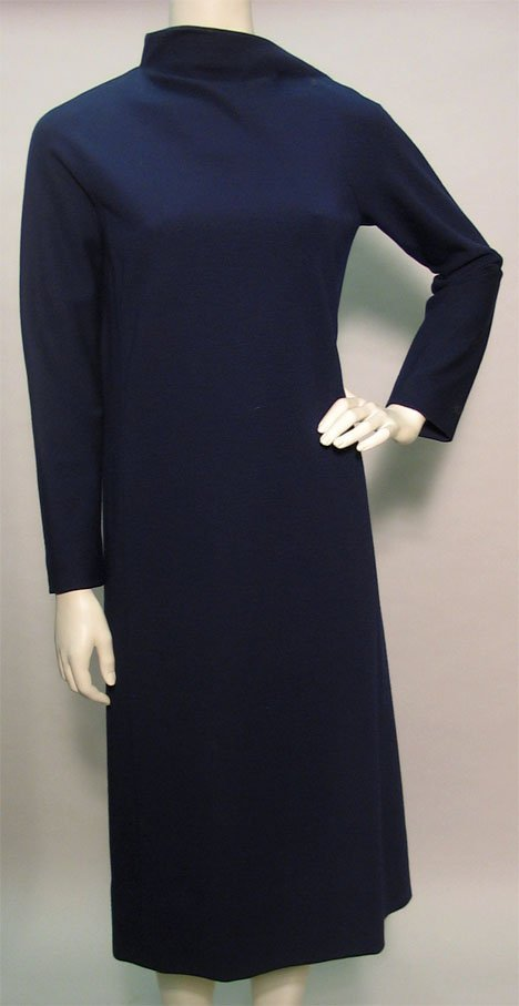 1019: Four Pauline Trigere wool jersey dresses, 1960s-7