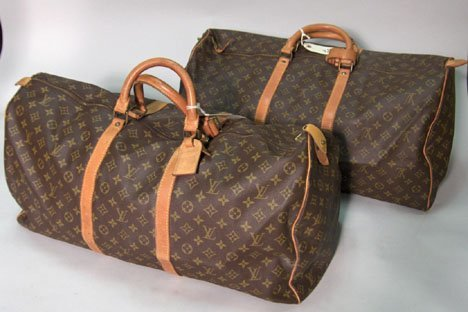 1307: Two large Louis Vuitton Keepall duffel bags, Fran