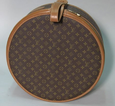 1311: Louis Vuitton round suitcase, 1980s, Zip-top with
