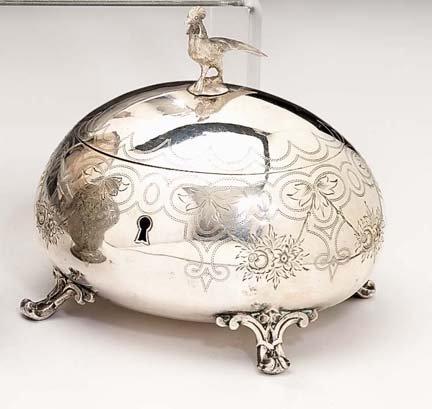2004: Continental silver lid sugar box, 19th century, O