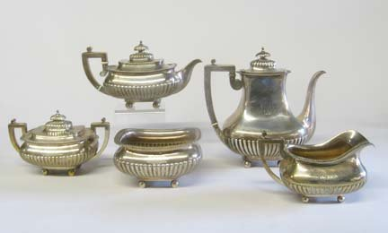 2005: Dominick and Haff sterling silver five piece tea