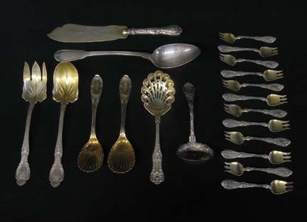 2011: Assorted American silver flatware, various dates