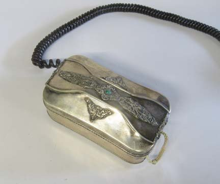2019: Continental silver telephone case, 20th century,