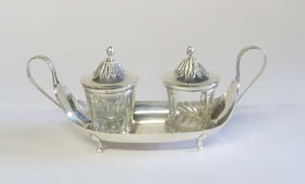 2023: French Neo-classical silver cruet, maker cb, pari