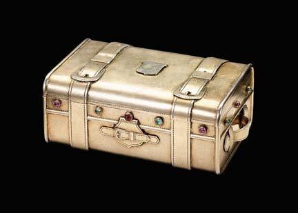 2120: Russian silver gilt trompe l'oeil box, o. f. wenn