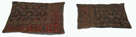 2751: Two Fereghan cushions, west persia, each late 19t