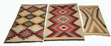 2752: Three Navajo Regional rugs, circa 20th century, o
