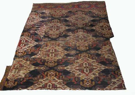 2758: Bakhtiari carpet fragment, southwest persia, circ