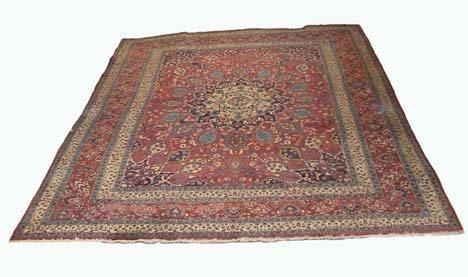 2762: Mashad Carpet, northeast persia, circa 1930, 16 f