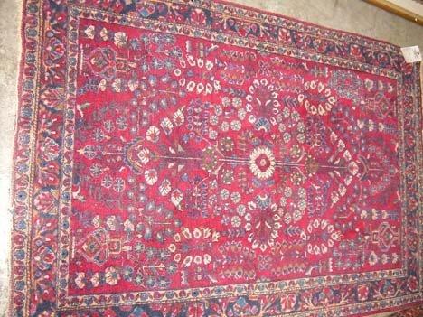 2766A: Sarouk rug, west persia, circa 1920, 4 ft. 10 in