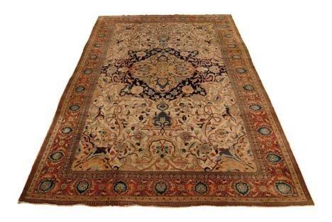 2922: Tabriz carpet, northwest persia, circa 1900, 23 f