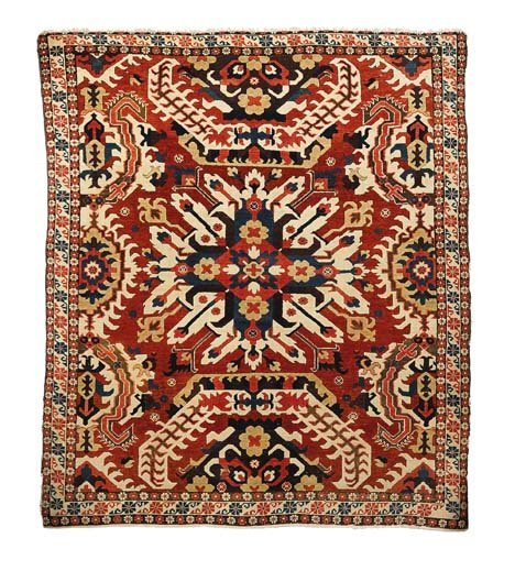 2926: Chelaberd (Eagle Kazak) rug, south caucasus, earl