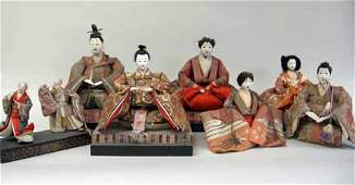 11183 Seven Japanese dolls late 19th century Worked