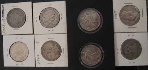 3: Assorted Liberty and Franklin Half Dollars, , Includ
