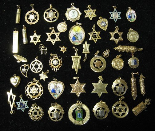 8: Forty Seven piece Group of Assorted Judaica Charms