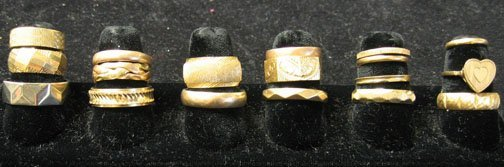 12: Group of Eighteen Gold Wedding Bands, , With 15 pie