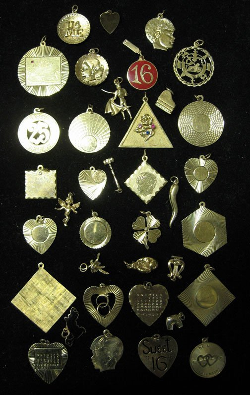 19: Assorted 14k. Gold Charms, , The large assortment o