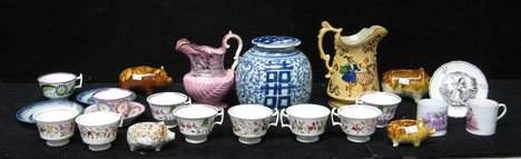 122: Twenty-three piece ceramic group, 19th c., Includi